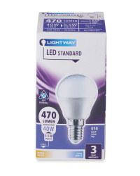 LED Lightbulb 5.5W G45 globe SES