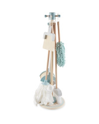 Green & Grey Wooden Cleaning Set