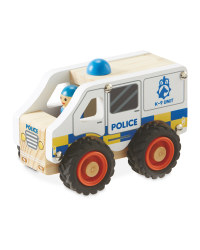Little Town Wooden Police Car
