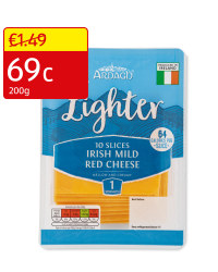 Lighter Sliced Mild Red Cheese