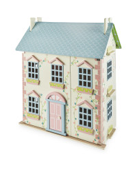 Little Town Pink Wooden Doll's House