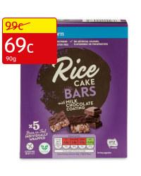Rice Cake Bars Milk Chocolate Coated