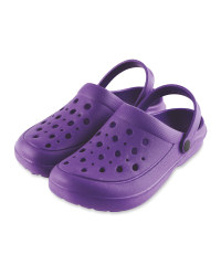 Summer Clogs Purple