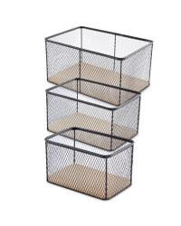 3 Wire Metal Basket Set