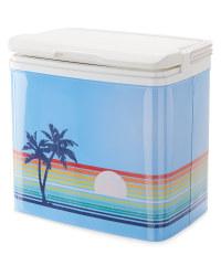 Ice cold retro cool box