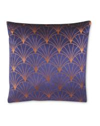 Navy/Gold Deco Printed Cushion