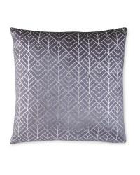 Grey/Silver Geo Printer Cushion