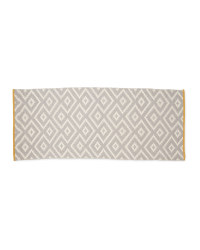 Grey And Yellow Wool Rich Runner