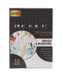 Script Brush Markers 12 Pack