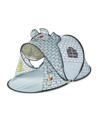 Kids' Grey Castle Play Tent