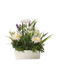 White Flower Window Box