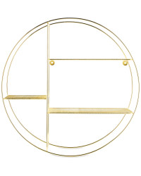 Gold Round Wire Shelf 53cm