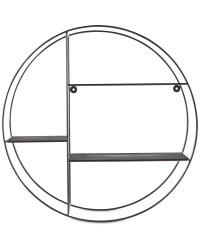 Black Round Wire Shelf 53cm