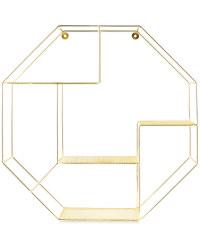 Gold Octagonal Wire Shelf 53cm
