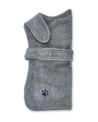 Pet Collection Grey Dog Towel Coat