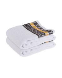 Black/Yellow Hand Towel 2 Pack