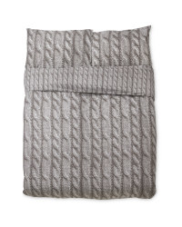 Dark Knit Look King Size Duvet Set