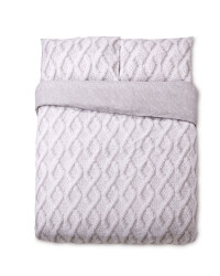 Light Knit Look King Size Duvet Set
