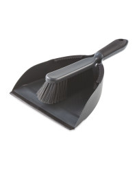 Grey & Black Dustpan and Brush Set