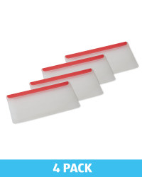 Red Silicone Snack Bag