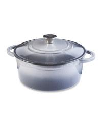 Grey Cast Iron Casserole Dish 26cm