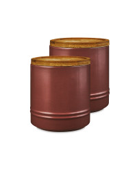 Medium Plum Kitchen Canister 2 Pack
