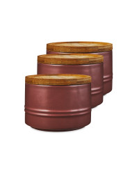 Small Plum Kitchen Canister 3 Pack
