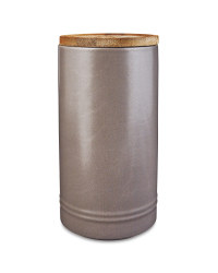 Tall Grey Kitchen Canister