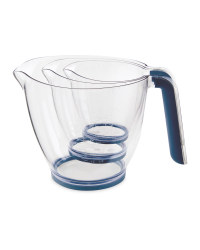 Blue Premium Measuring Jugs 3 Pack