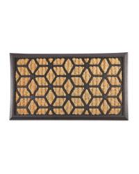 Geometric Outdoor Coir Mat