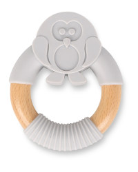 Penguin Silicone & Wood Teether