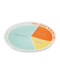 Colour Block Portion Control Plate