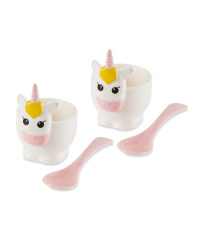 Unicorn Egg Cup And Spoon Set