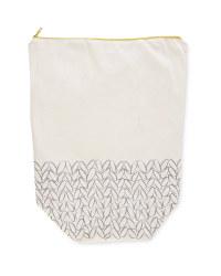 So Crafty Knit Print Bucket Bag