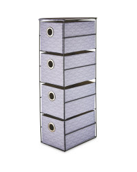 Patterned 4 Drawer Storage Unit