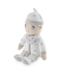 Doll with White Dinosaur Sleepsuit