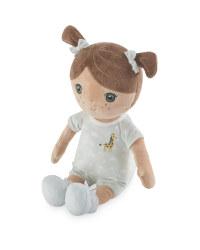 Doll with Giraffe Sleepsuit