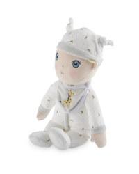 Doll with Grey Giraffe Sleepsuit