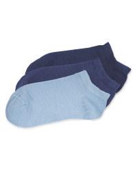 Children's Trainer Socks Blue
