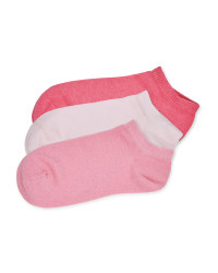Children's Trainer Socks Rose