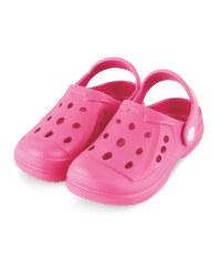 Kids' Summer Clogs Pink with Design