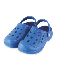 Kids' Summer Clogs Blue with Design