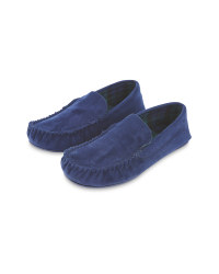 Avenue Men's Navy Moccasin Slippers