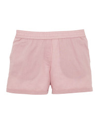 Ladies' Rose Linen/Cotton Shorts