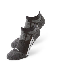 Black/Grey Trainer Socks 2 Pack