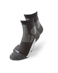 Black/Grey Ankle Socks 2 Pack