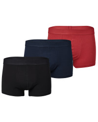 Men's Navy/Black/Red Hipsters 3 Pack