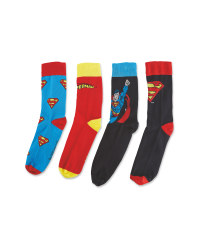 Men's Superman Socks 4 Pack