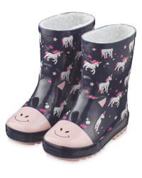 Lily & Dan Kids' Unicorn Wellies