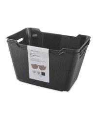 Black Matt 12L Storage Box 2 Pack